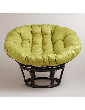 Oasis Green Microsuede Papasan Chair Cushion by World Market