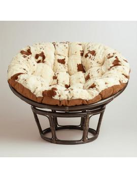 Cowhide Faux Fur Papasan Chair Cushion by World Market