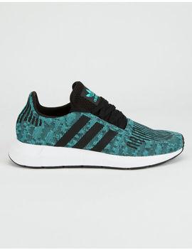 Adidas Swift Run Mint & Core Black Shoes by Adidas