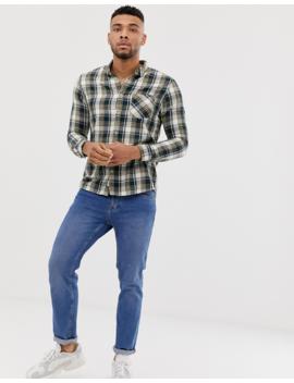 Burton Menswear Shirt In Khaki Check by Burton Menswear London