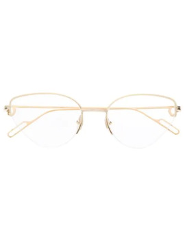 Rounded Glasses by Cartier