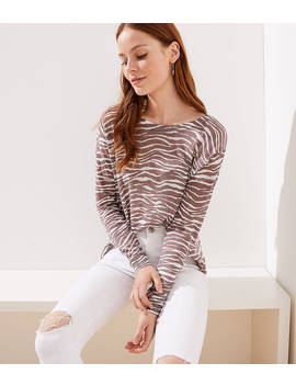 Zebra Slouchy Sweater by Loft