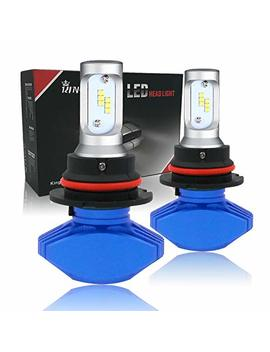 King Eagle 9007/Hb5 Led Headlight Bulb All In One Conversion Kit, Halogen Headlamp Replacement, 2 Pack by King Eagle