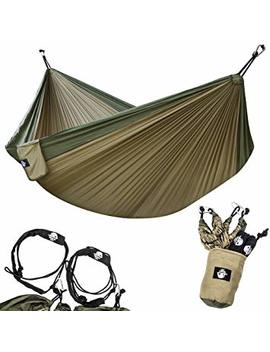 Legit Camping   Double Hammock   Lightweight Parachute Portable Hammocks For Hiking, Travel, Backpacking, Beach, Yard Gear Includes Nylon Straps &Amp; Steel Carabiners by Legit Camping
