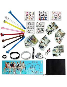 Fatyi Bts Gift Set For Amry Pens, Lomo Cards,3 D Stickers, Stickers, Wristband, Phone Stand, Keychain, Ring,Lanyard, Banner And Storage Bag by Fatyi