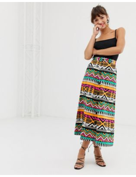 &Amp; Other Stories Midi Skirt In Zig Zag Print by & Other Stories