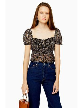 Ditsy Floral Lace Top by Topshop