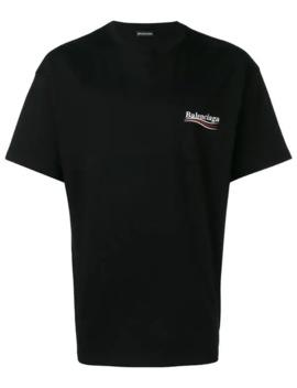 T Shirt Med Politisk Logotyp by Balenciaga