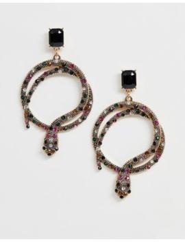 Aldo Crareven Bright Multi Colour Snake Earrings by Aldo