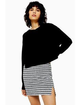Bonded Boxy V Neck Jumper by Topshop