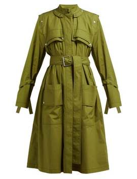 Belted Cotton Blend Single Breasted Trench Coat by Proenza Schouler