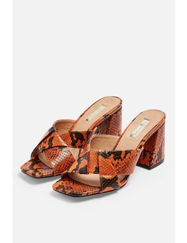 Roux Orange Block Heels by Topshop