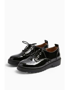 Furnace Black Patent Shoes by Topshop