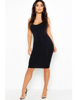 Spaghetti Strap Bodycon Midi Dress by Boohoo