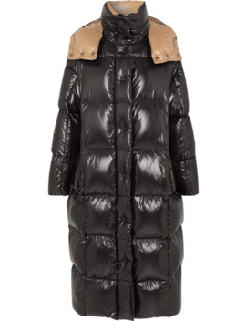 Hooded Quilted Shell Down Coat by Moncler