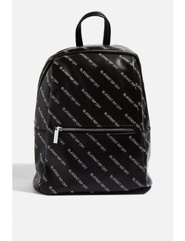 **Blatant Rip Off Backpack By Skinnydip by Topshop
