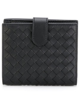 Nero Intrecciato Nappa Mini Wallet by Bottega Veneta
