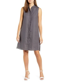 Trapeze Linen Shirtdress by Anne Klein