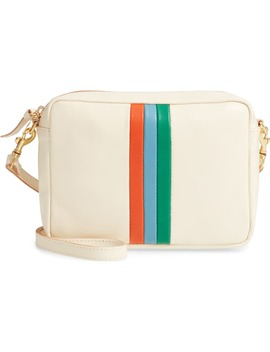 Midi Sac Embossed Leather Crossbody Bag by Clare V.