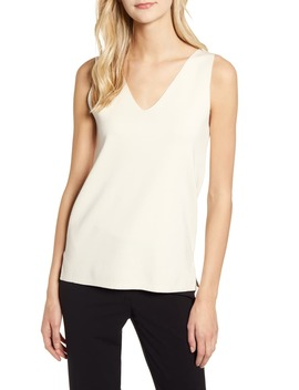 Double V Neck Sweater Tank by Anne Klein
