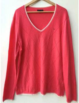 Tommy Hilfiger Women Luxe Soft Knit Sweater Jumper Top Size Xl/16 Au, Rrp $149 by Tommy Hilfiger
