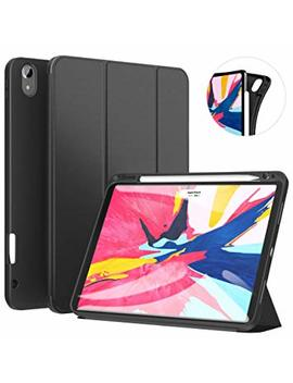 Ztotop Case For I Pad Pro 11 Inch 2018 With Pencil Holder  Lightweight Soft Tpu Back Cover And Trifold Stand With Auto Sleep/Wake,Support 2nd Gen I Pad Pencil Charging,Black by Ztotop
