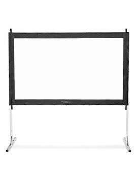 Visual Apex Projector Screen 132 Hd Portable Indoor/Outdoor Movie Theater Fast Folding Projector Screen With Stand Legs And Carry Bag Hd4 K 16:9 Format by Visual Apex
