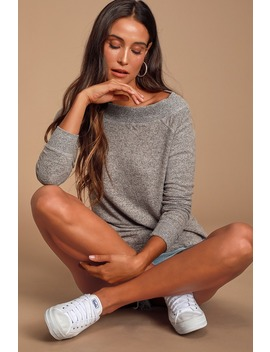 The Marled Heather Grey Sweater Top by Z Supply