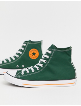 Converse All Star Chuck Taylor High Top Plimsolls In Green by Converse