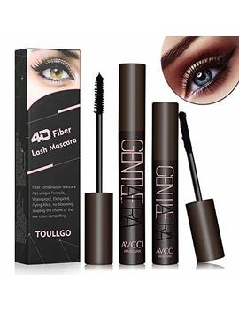4 D Silk Fiber Lash Mascara, Fiber Lash Mascara Waterproof, Natural Fiber Mascara For Thickening & Lengthening Your Lashes, Waterproof, Smudge Proof, Long Lasting by Toullgo