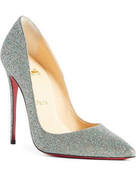 Kate Glitter Pointy Toe Pump by Christian Louboutin