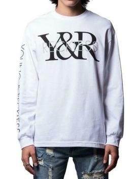 Young And Reckless Y & R Long Sleeve Logo Tee Mens White Fashion Top by White