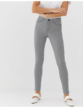 Esprit Gingham Pant In Black And White by Esprit