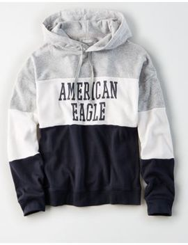 Ae Colorblock Graphic Hoodie by American Eagle Outfitters