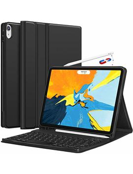 Chesona I Pad Pro 11 Keyboard Case 2018   Detachable Wireless Keyboard [Support Apple Pencil Charging]   Ultra Slim Pu Leather Folio Stand Cover With Pencil Holder For I Pad Pro 11 Inch 2018, Black by Chesona
