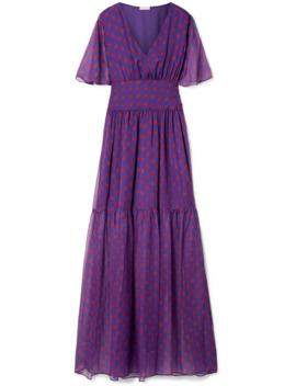 Maria Printed Chiffon Maxi Dress by Eywasouls Malibu
