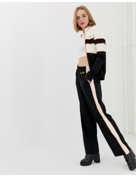 House Of Holland Missy Contrast Panelled Wide Leg Trousers by House Of Holland