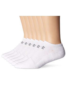 Under Armour Mens Charged Cotton 2.0 No Show Socks (6 Pack) by Under Armour