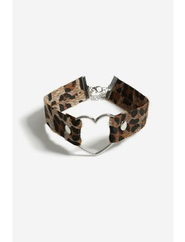 **Leopard Print Brown Choker by Topshop