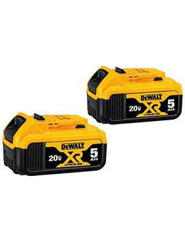 Dewalt Dcb205 2 20 V Max Xr 5.0 Ah Lithium Ion Battery, 2 Pack by Dewalt