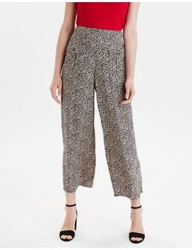 Ae High Waisted Leopard Wide Leg Pant by American Eagle Outfitters