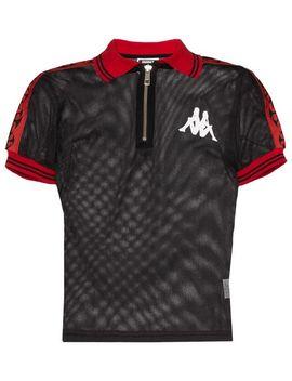 X Kappa Contrast Trim Mesh Polo Shirt by Charm's