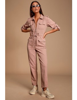 Work It Mauve Pink Boiler Jumpsuit by Minkpink