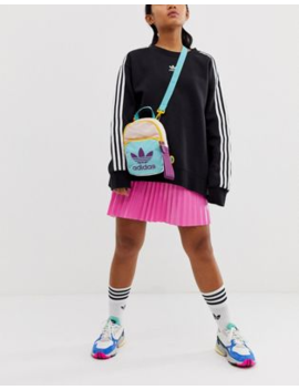Adidas Originals Sportivo Mini Backpack In Pink And Mint by Adidas