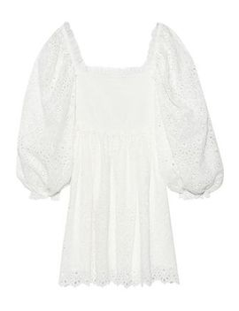Castile Shirred Broderie Anglaise Cotton And Silk Blend Mini Dress by Zimmermann