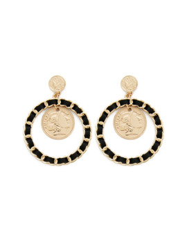 Coin Hoop Drop Earrings by Forever 21