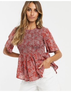 Y.A.S Smock Fluted Sleeve Top by Y.A.S