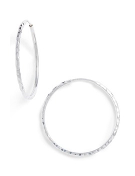Small Hammered Infinity Hoop Earrings by Argento Vivo