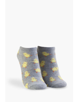 Ducky Print Ankle Socks by Forever 21