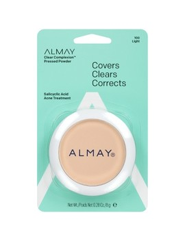 Almay Clear Complexion Pressed Powder With Salicylic Acid   0.28oz by 0.28oz